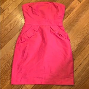 Jcrew pink strapless dress
